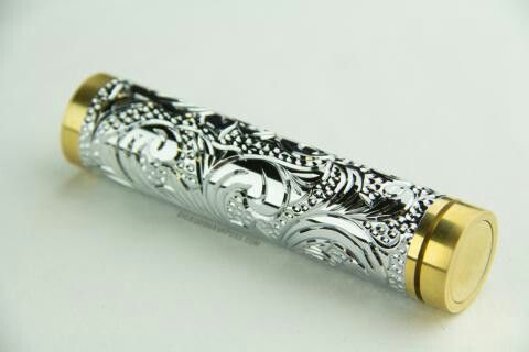 Koi Mod- Hand Engraved- 24kt  White Gold plated by J2P