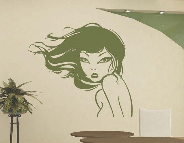 Vinilo para la decoraci n de paredes en peluquer as - Centros de estetica ...
