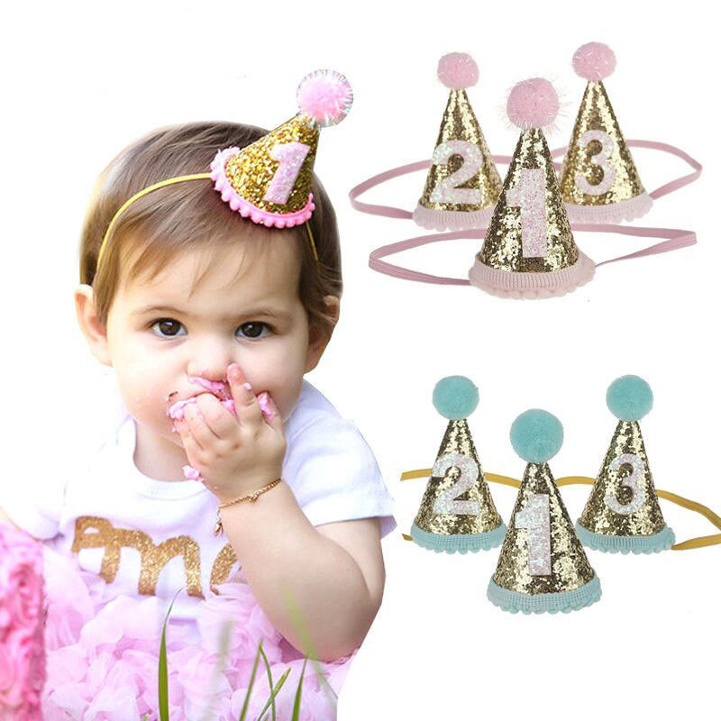 Baby Birthday Party Hats Caps First Birthday Decor Favors Baby Shower Supplies