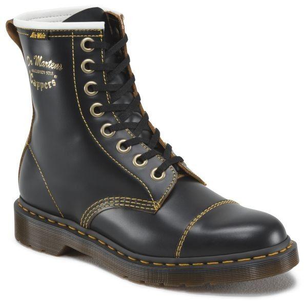 Dr Martens Capper Black Vintage Smooth 27431 Boots Men Boots Dr Martens Store