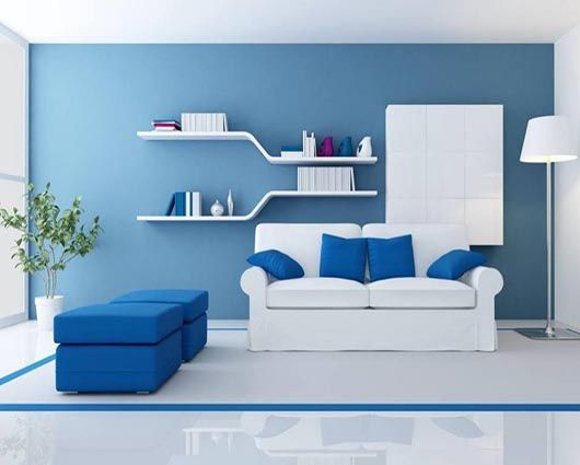 Salas gris y azules buscar con google pared gris for Pintura azul pared
