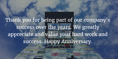 10 Years Anniversary Quotes for Company to Celebrate a