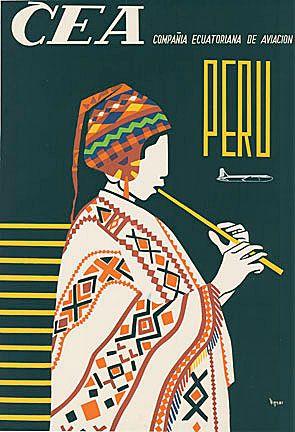 CEA Airlines - Peru   Viteri   The Vintage Poster