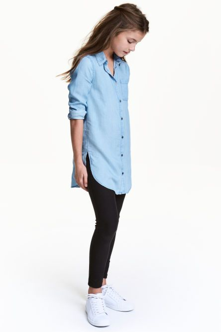 Chemise en jean de lyocell Chemise, Vêtements Filles, Mode, Enfant, Tenues,