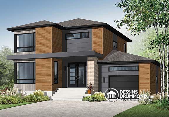 Conception des plans de cette maison contemporaine réalisée par - Plan De Maison Moderne