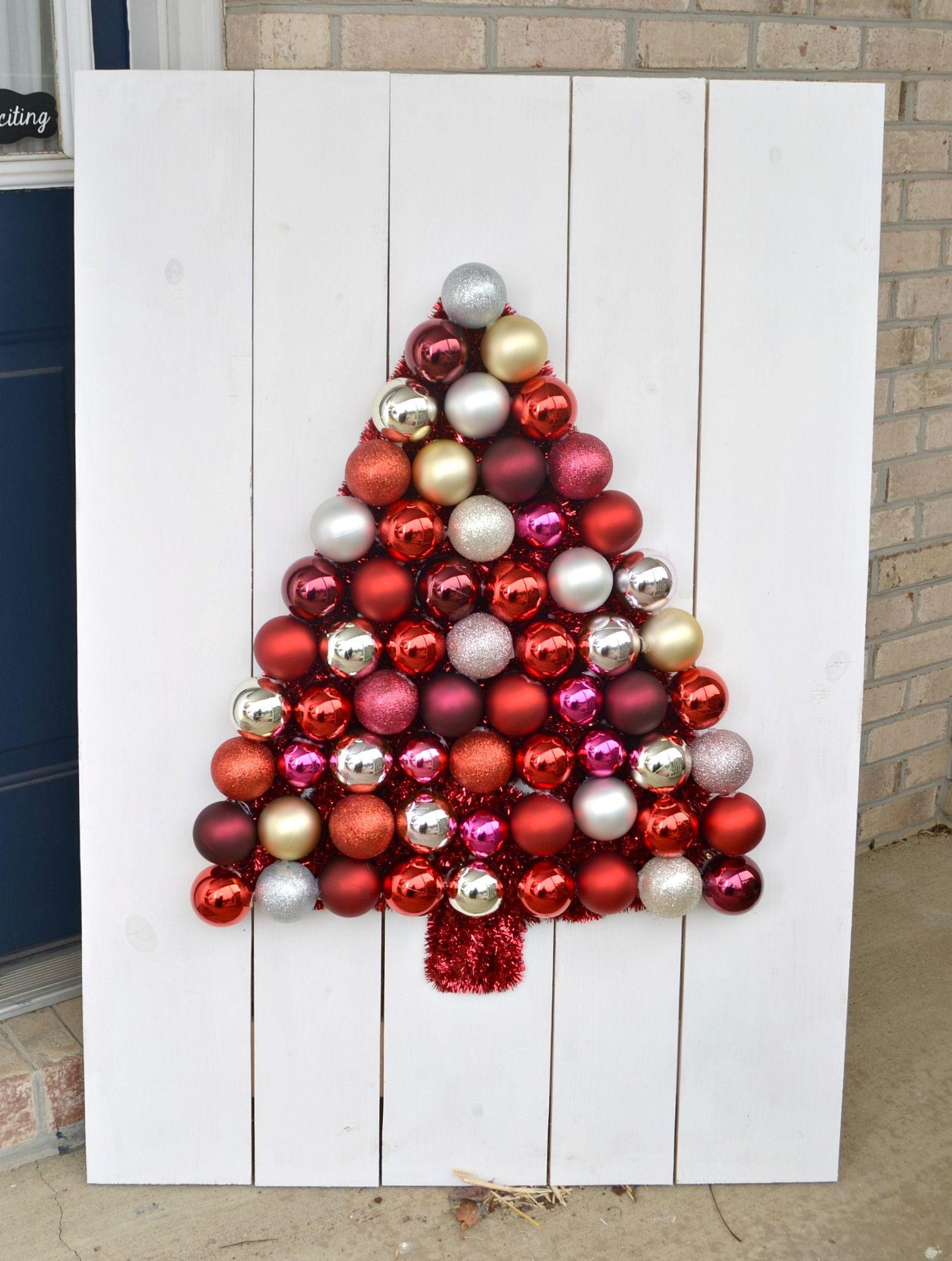 DIY Ornament Tree Display Ornament tree display