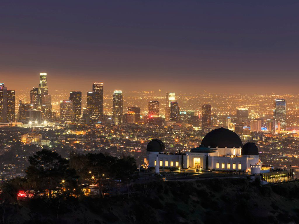 Webshots Los Angeles Skyline And The Griffith Observatory California Los Angeles Skyline Skyline Griffith Observatory