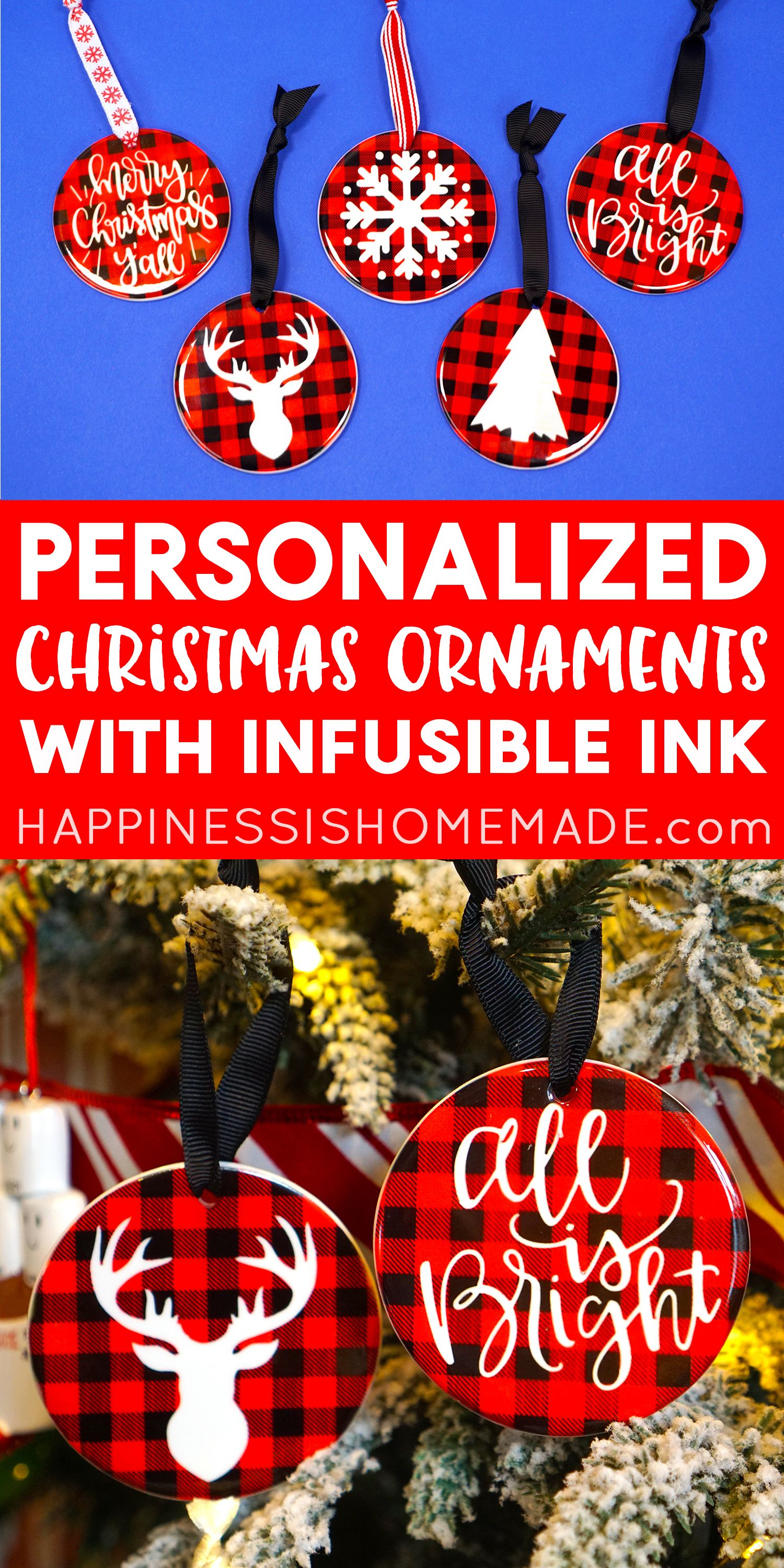 Make your own DIY Personalized Christmas Ornaments with ...