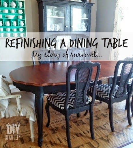 painted vintage thomasville dining table and chairs. annie sloan