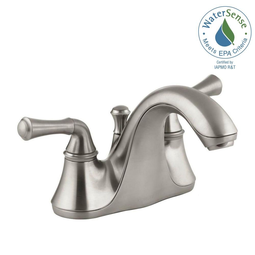 Kohler Forte 4 In Centerset 2 Handle Low Arc Water Saving