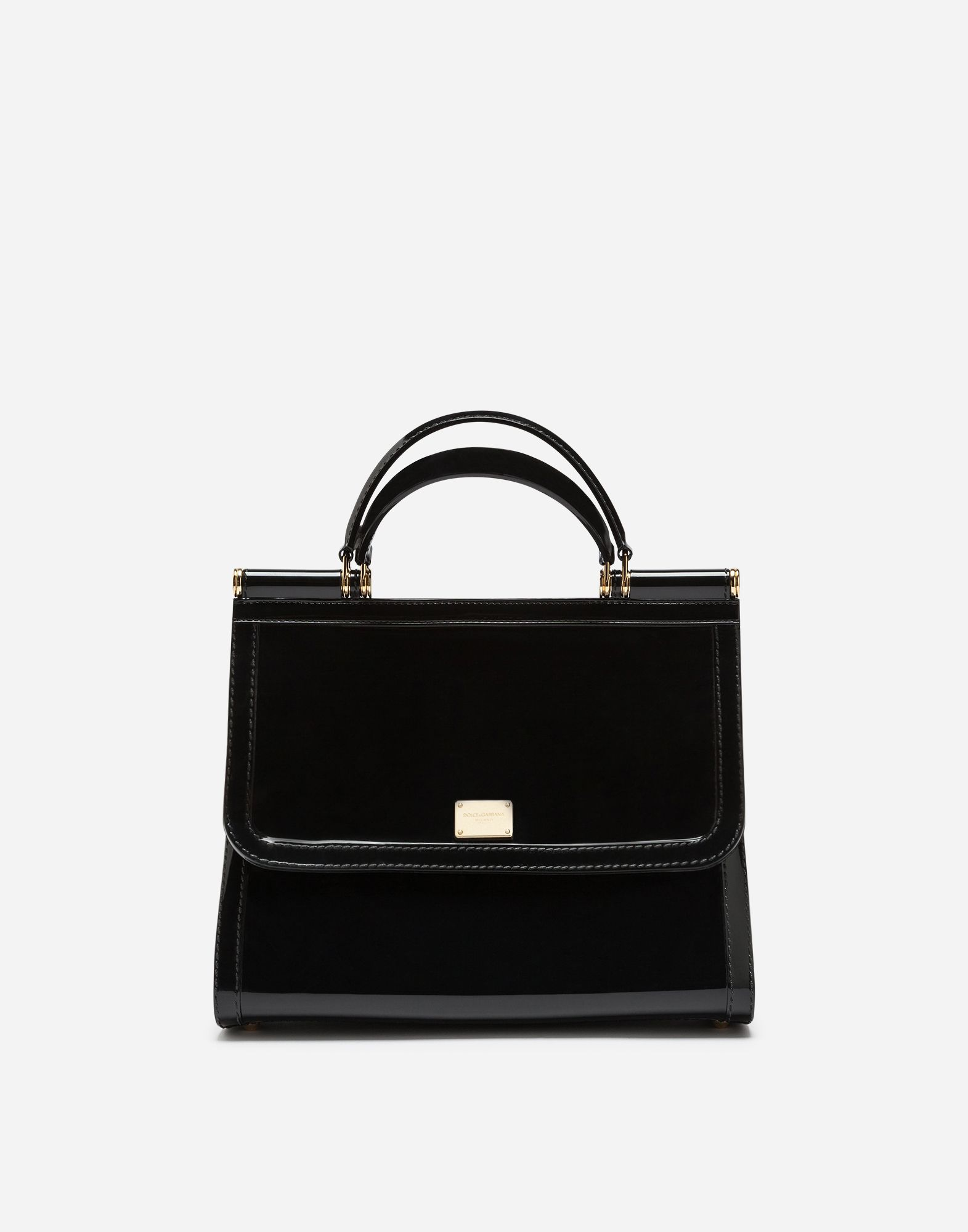 5252216f088e Dolce   Gabbana - Semi-transparent rubber black Sicily handbag ( 995)