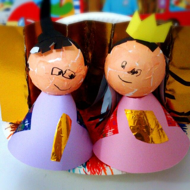 """息子作・お雛様* Son work """"girls festival doll"""""""