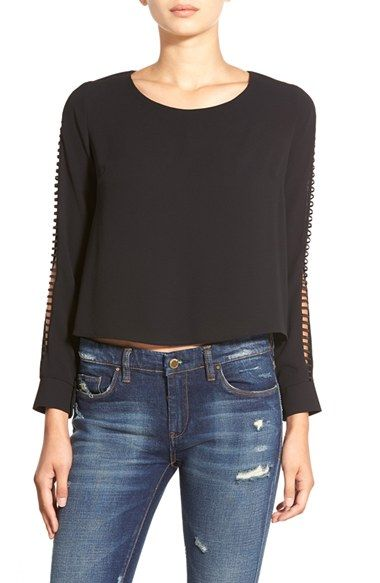 ASTR Ladder Stitch Blouse available at #Nordstrom