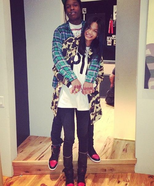 A$AP Rocky & Chanel Iman in the Air Jordan 1