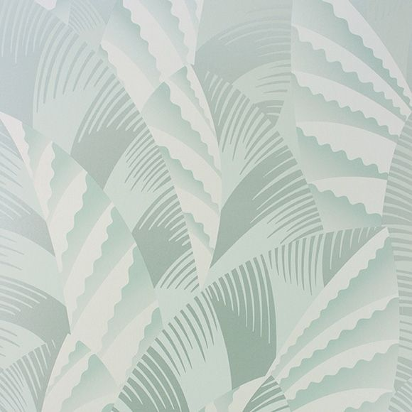 Papier Peint Chrysler Motif De Feuille Art Deco Vert Menthe Papier Peint Papier Peint Art Deco Fond D Ecran Colore