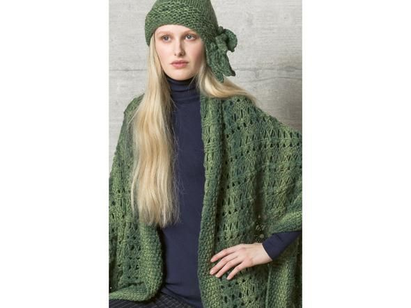Photo of Chic shoulder scarf with a subtle pattern