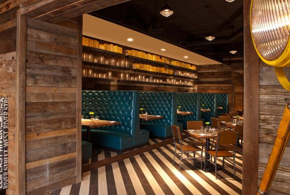 Love The Mood Warm Cozy With A Pop Of Color Restaurant Design Interiordesign Wood Wall Floor Hotel
