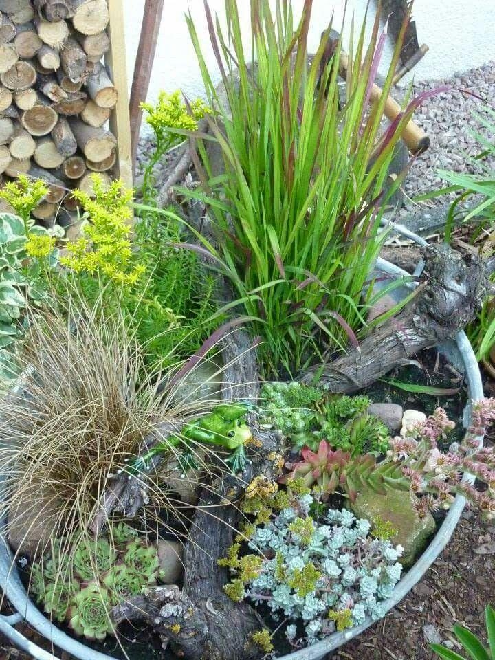 Zinkwanne dekoration garten pinterest gardens - Zinkwanne dekorieren ...