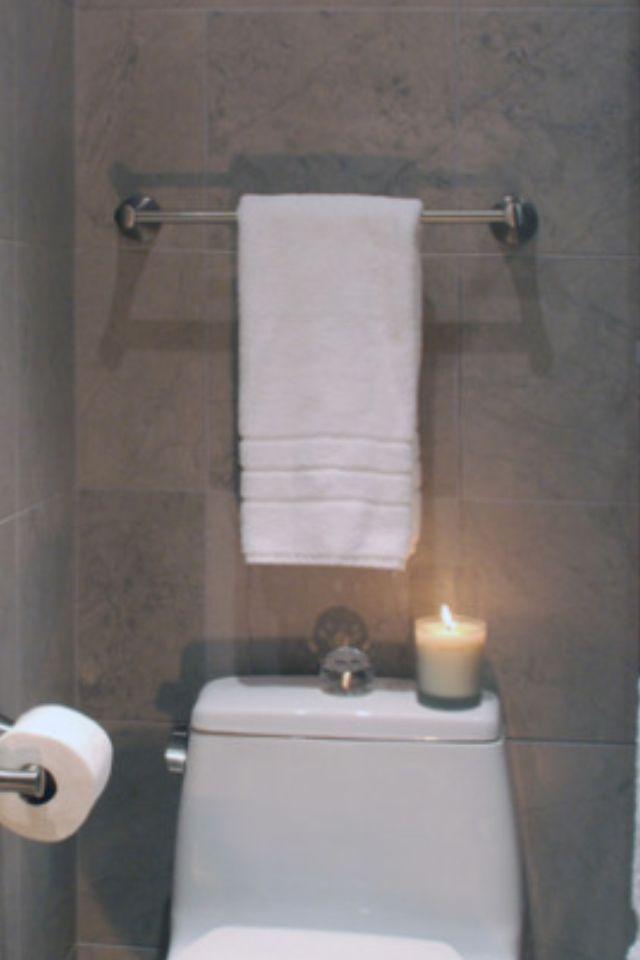 Move Towel Rack Behind Toilet To Save Space Towel Rack Small Bathroom Space Saving
