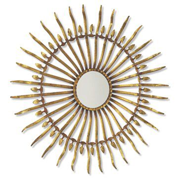 Check out this item at One Kings Lane! Spanish Sun Wall Mirror, Gold