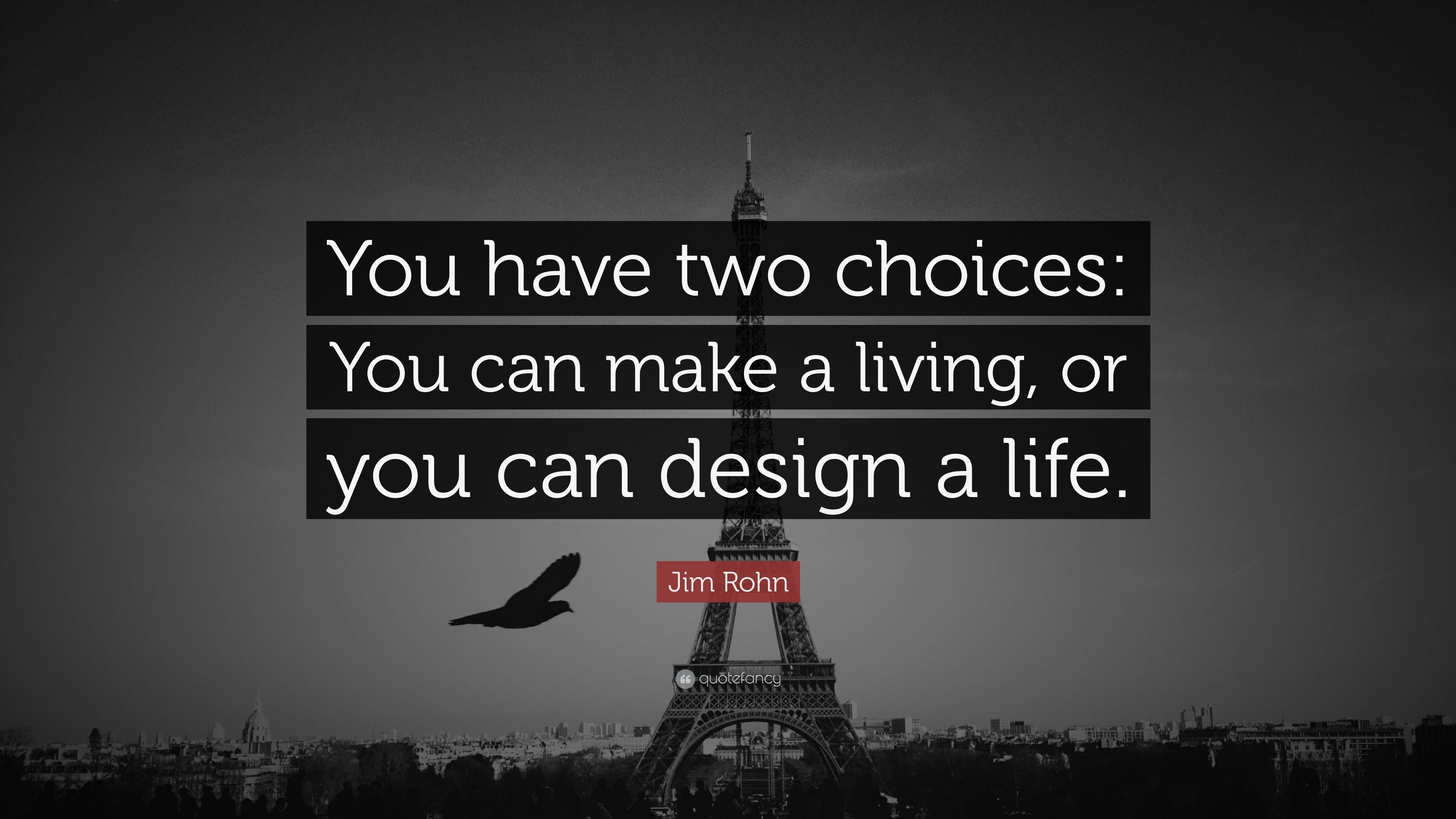 Jim Rohn Quotes The Cs Of Life Choices Chances Changes You Must Make A Choice  3D
