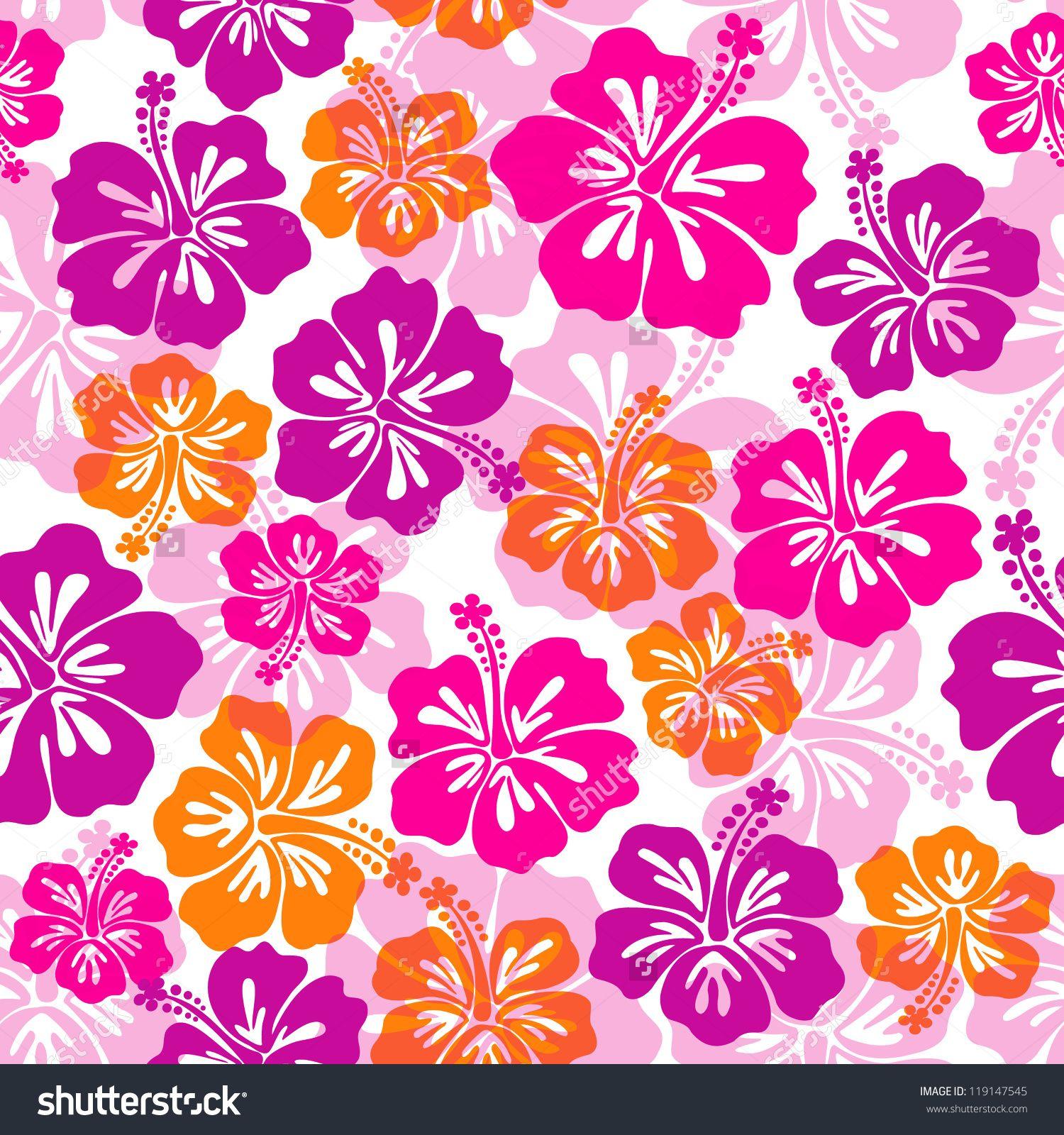 stockvectorseamlesspatternwithhibiscusflower