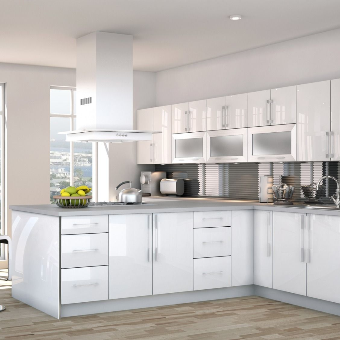 Matte Black Is So 2016 How About White Gloss Instead The Cutler Cabinet Collection Is Here Shop Kitchen Cabinets White Gloss Cabinets Top Kitchen Cabinets