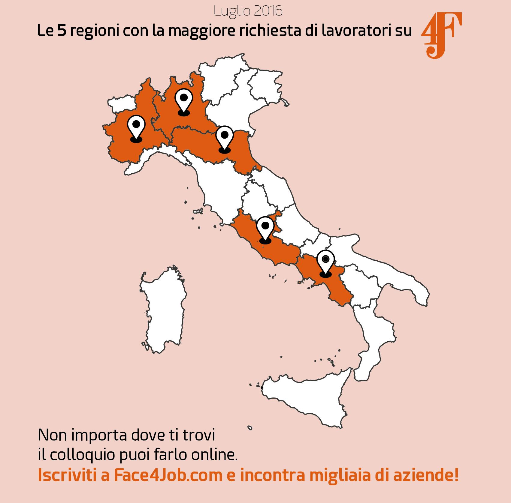 Piemonte, Lombardia, Emilia Romagna, Lazio e Campania sono le ...