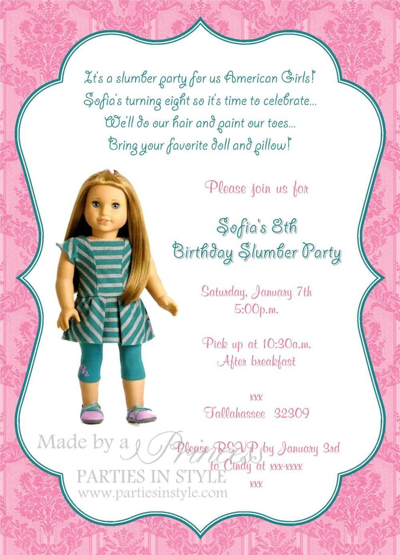American Girl Invitations Printable Free   free printable american ...