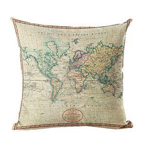 America Vintage MapThrow Pillow