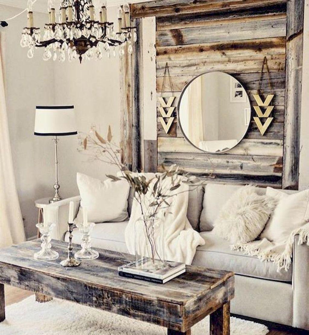 80 Shabby Chic Farmhouse Living Room Decor Ideas   Pinterest ...
