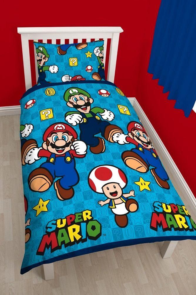 Nintendo Super Mario Bros Games Single Duvet Quilt Cover