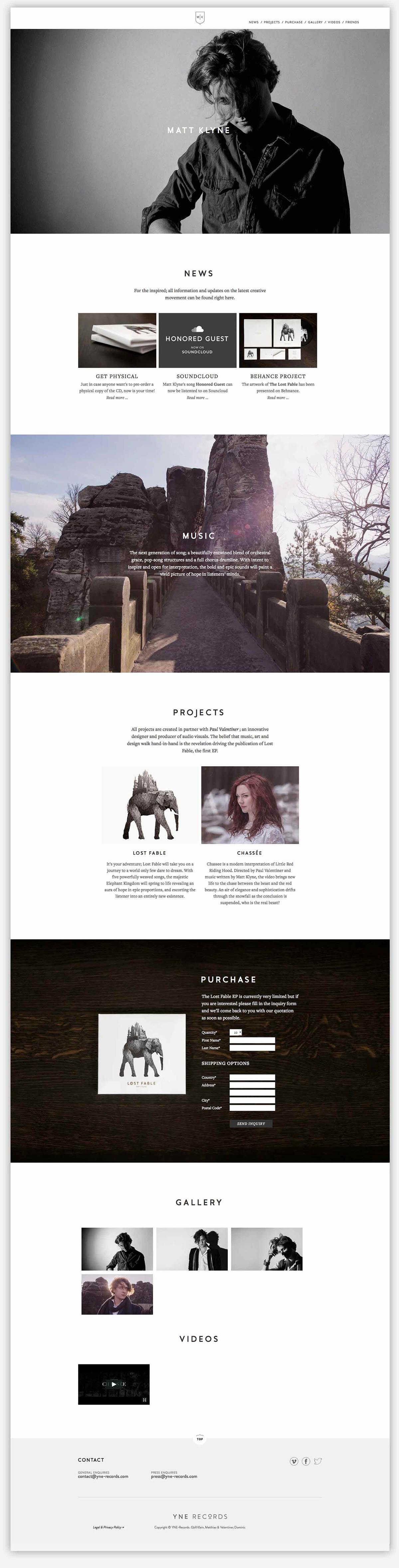 Branding - Matt Klyne - Website