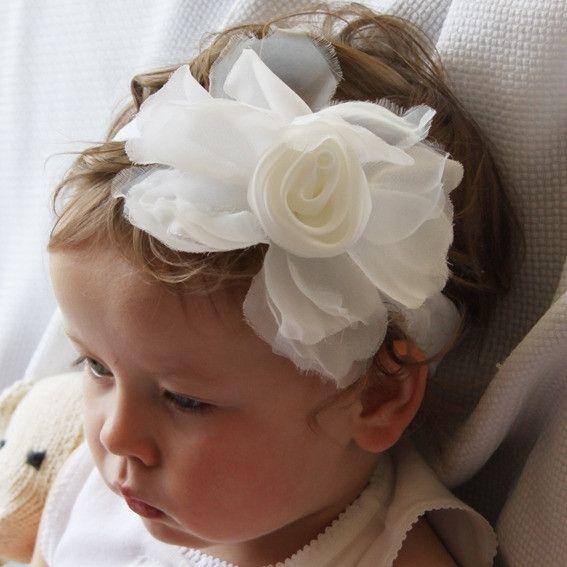 Rose Headband White - hardtofind.