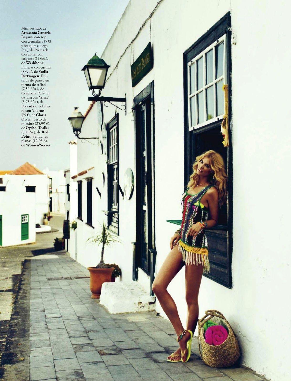 playa arcoiris: cristina tosio by xavi gordo for elle spain july 2013 | visual optimism; fashion editorials, shows, campaigns & more!