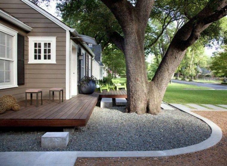 Jardín Decorado Con Grava Y Guijarros Ideas De Diseño