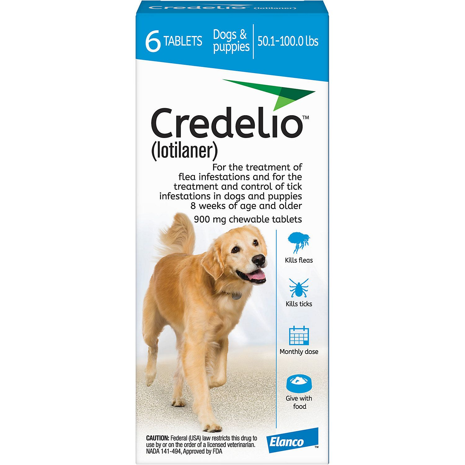 Credelio Chewable Tablets For Dogs 50 1 100 Lbs Blue 12 Pack Brown Dog Tick Dog Weight Dogs