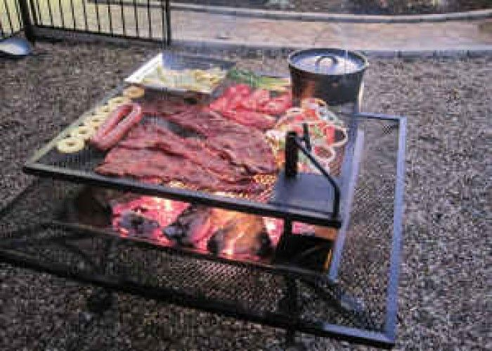 Simple And Creative Homemade Fire Pit Ideas With BBQ Grilled Function Design