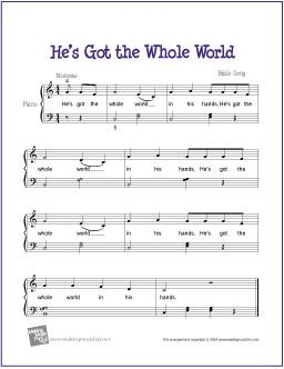 He's Got the Whole World | Free Sheet Music for Piano