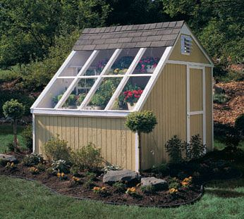 handy home products phoenix 10 ft x 8 ft solar shed with floor kit - Garden Sheds With Greenhouse