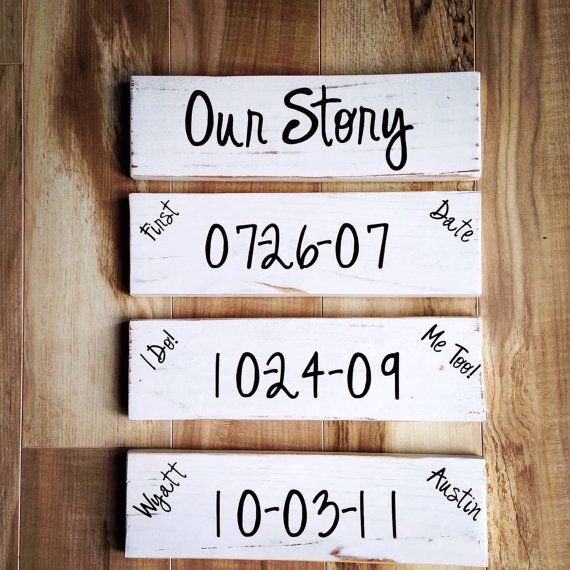 Special Dates Wood Sign Personalized by CaroneCreations on Etsy