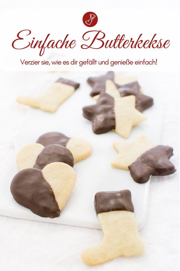 Butterplätzchen - Rezept für einfache Kekse zum Ausstechen