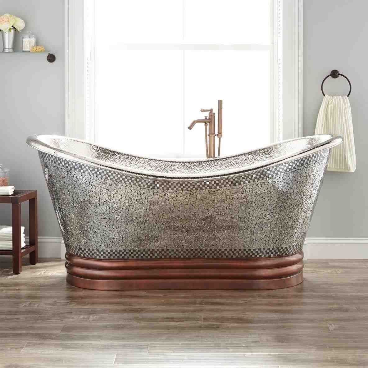 This free standing tub copper - home / bathroom / kyah oval double ...