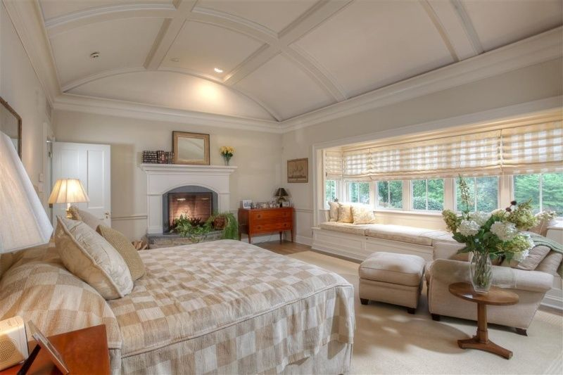 Chair Rail Vaulted Ceiling Part - 17: Great Traditional Master Bedroom With Barrel Vaulted Ceiling U0026 Chair Rail