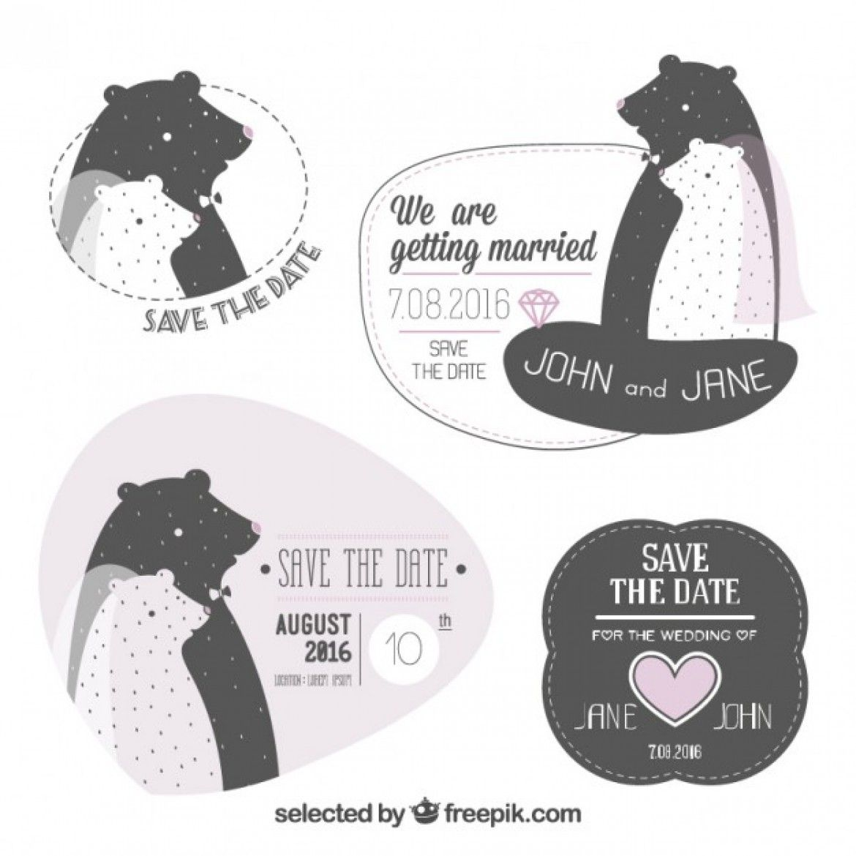 wedding invitation graphic bear - Szukaj w Google | wesele ...