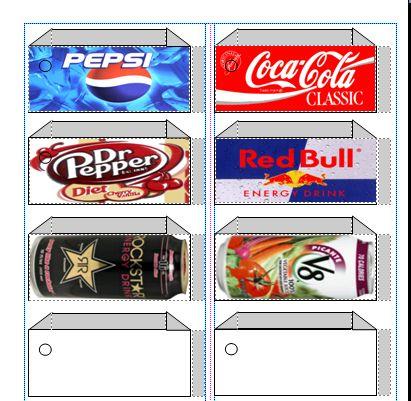 pepsi label template vending machine labels Can Labels Label
