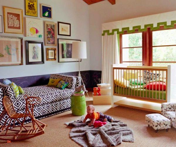 125 großartige Ideen zur Kinderzimmergestaltung - frische - babyzimmer orange grn
