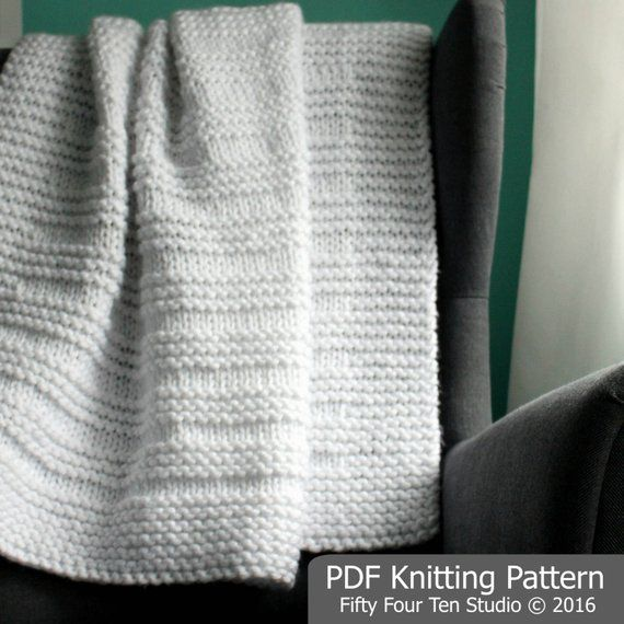 KNITTING PATTERN / Blanket / Where the Sidewalk Ends / Throw ...
