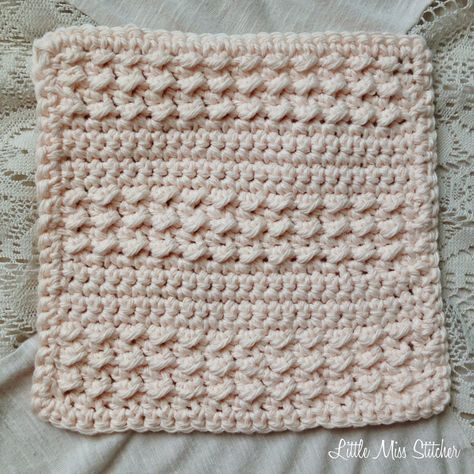 Little Miss Stitcher: 5 Free Crochet Dishcloth Patterns | Crochet ...