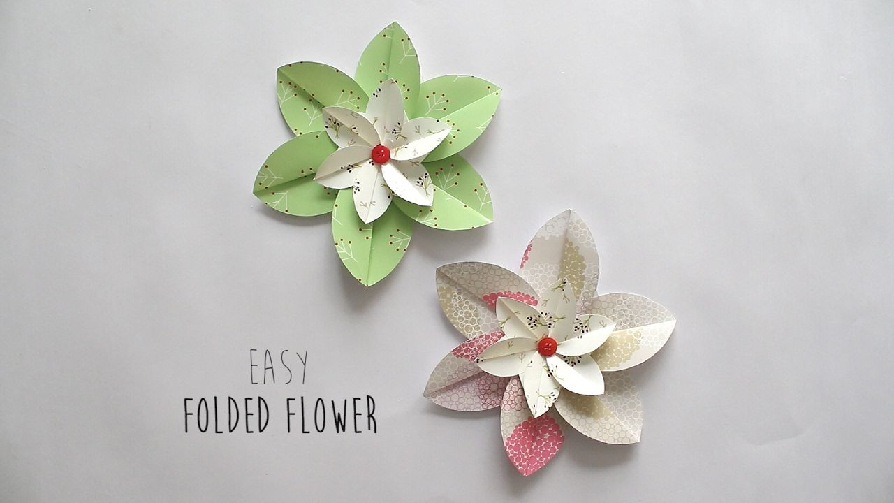 How To Make Folded Flower Handmade Flowers Pinterest Origami